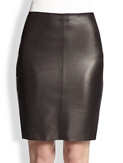 Akris - Leather Pencil Skirt