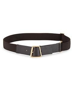 Akris - Leather & Elastic Ai-Buckle Belt