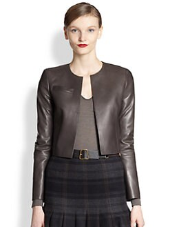 Akris - Pavese Lambskin Leather Bolero Jacket