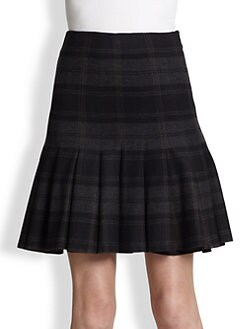 Akris - Flannel Plaid Skirt