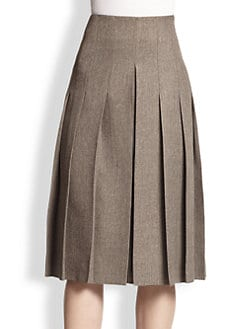 Akris - Pleated Tweed Skirt