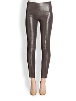 Akris - Melissa Metallic Silk & Wool Crepe Lurex Pants