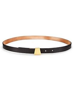 Akris - Skinny Leather Ai-Buckle Belt