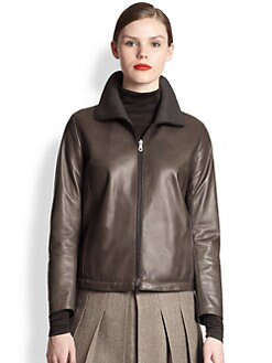 Akris - Reversible Nappa Leather & Silk Jacket
