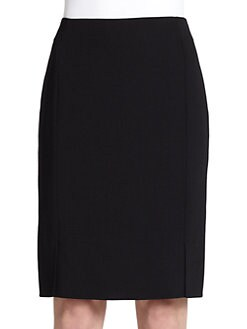 Akris - Architecture Collection Double-Face Wool Pencil Skirt<CRLF>