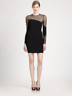 Akris - Tulle-Inset Sheath Dress