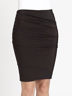 Akris - Draped Silk & Wool Pencil Skirt