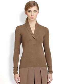 Akris - Cashmere & Silk Shawl-Collared Sweater