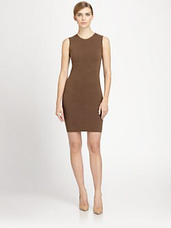 Akris - Crocodile Jacquard Stretch Wool Dress