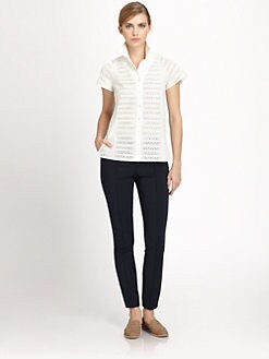 Akris - St. Gallen Embroidery Cotton Shirt