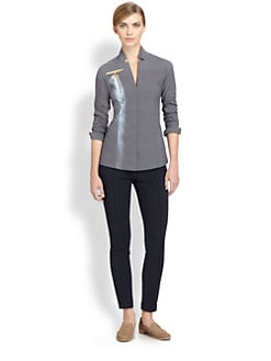 Akris - Airplane Photo-Print Stretch Cotton-Blend Shirt