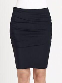 Akris - Silk Ruched-Front Pencil Skirt