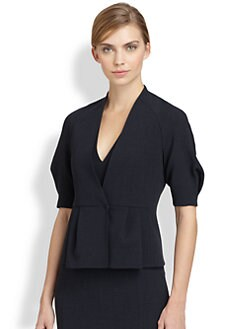 Akris - Wool Peplum Jacket