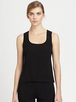 Akris - Silk Georgette Scoopneck Tank