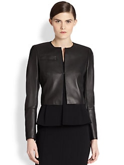 Akris - Hasso Cropped Leather Jacket