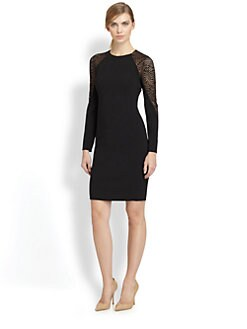 Akris - Animal-Patterned St. Gallen Embroidery Wool Dress