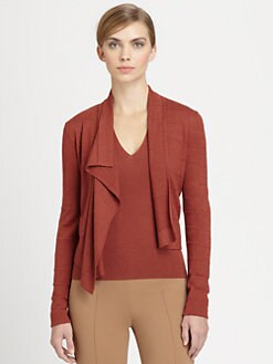 Akris - Cashmere & Silk Asymmetrical Draped Cardigan
