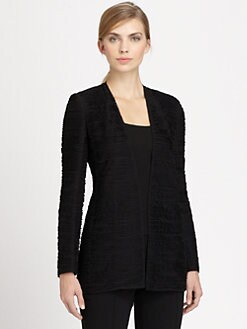 Akris - Laser CutTextured Chiffon Jacket
