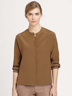 Akris - Banded-Cuff Silk Shirt