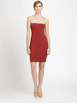 Akris - Sheer-Paneled Knit Dress