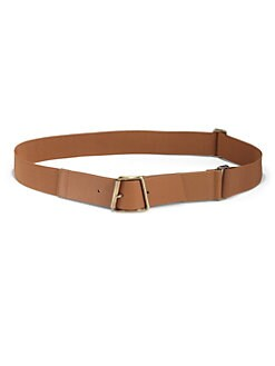 Akris - Leather & Elastic Ai-Buckle Belt