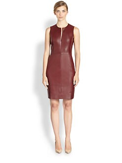 Akris - Leather Zip-Front Dress