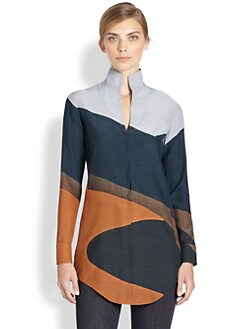 Akris - Silk & Wool Printed Tunic