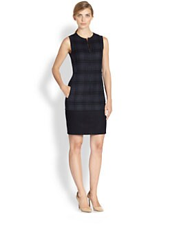Akris - Reversible Plaid Wool Dress