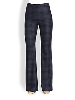 Akris - Farrah Plaid Wool Flannel Pants