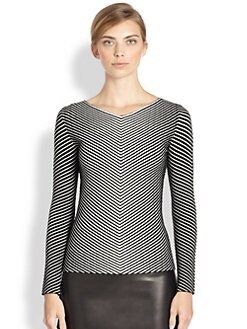 Akris - Striped Wool Jacquard Pullover