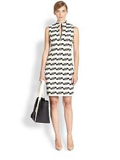 Akris - Wool-Blend Jacquard Dress