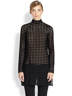 Akris - Basketweave Tunic Blouse