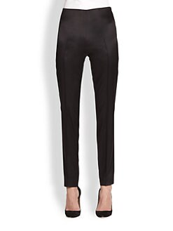 Akris - Melissa Satin Slim-Leg Pants
