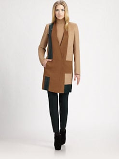 Akris - Colorblock Camel Hair Coat