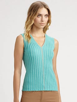 Akris - Rib-Knit Sleeveless Pullover