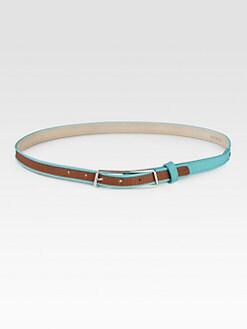 Akris - Leather-Trimmed Horsehair Belt