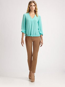 Akris - Silk Drawstring Blouse