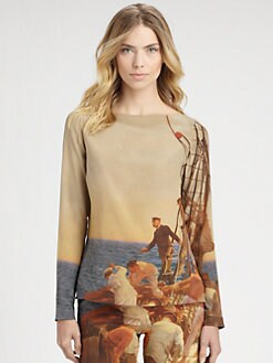Akris - Silk Prince Albert Print Tunic