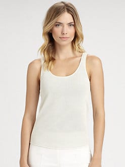 Akris - Scoopneck Net Tank