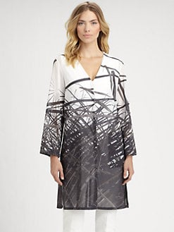 Akris - Reed Print Voile Tunic
