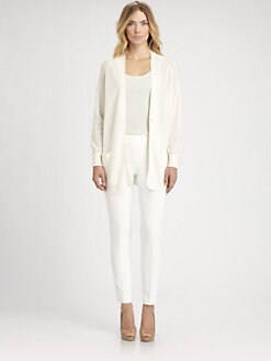 Akris - V-Neck Net Cardigan