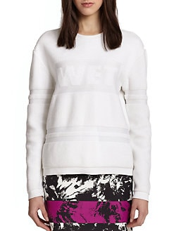 Alexander Wang - Wet Logo Towel Sweater