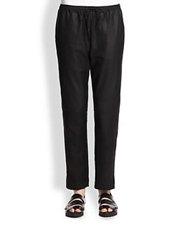 Alexander Wang - Leather Hybrid Track Pants