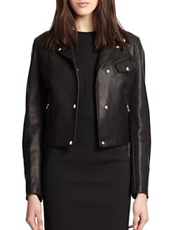 Alexander Wang - Leather Classic Fit Moto Jacket