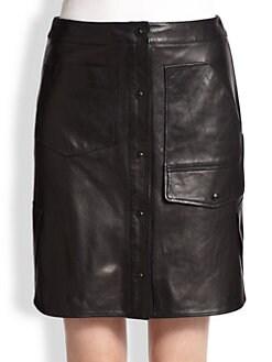 Alexander Wang - Multi-Pocket Leather Skirt