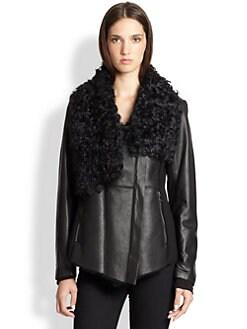 Ashley B - Shearling  Asymmetrical Jacket