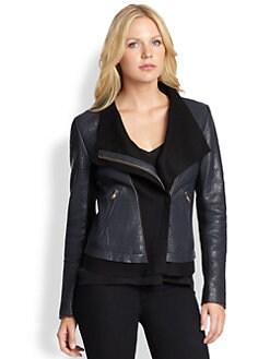 Mackage - Mixed-Media Asymmetrical Jacket