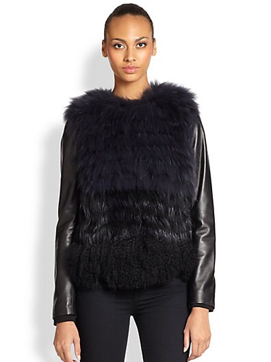 Convertible Fur & Leather Jacket