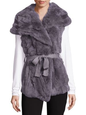 Fur Knit-Back Vest