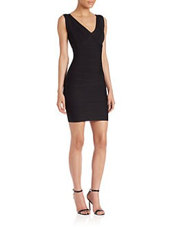 Herve Leger - Diane Cap Sleeve Bandage Dress